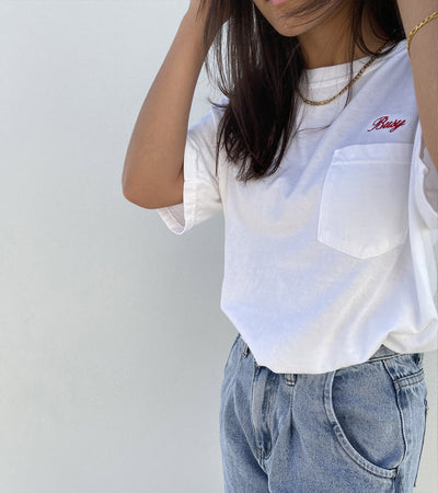 Script Pocket T-Shirt - White