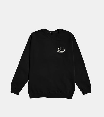 Stress Less Crewneck - Black