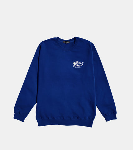 STRESS LESS CREWNECK ROYAL BLUE BY SORRYIMBUSY