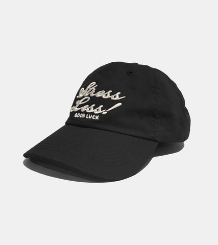 BLACK STRESS LESS CAP BY SORRYIMBUSY