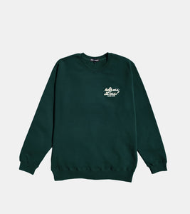 STRESS LESS CREWNECK FOREST GREEN BY SORRYIMBUSY