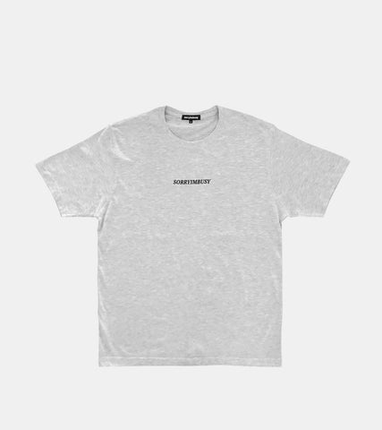 SORRYIMBUSY Staple T-Shirt - Ash Grey
