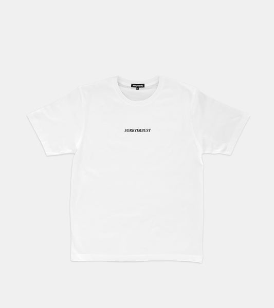 SORRYIMBUSY Staple T-Shirt - White - SORRYIMBUSY