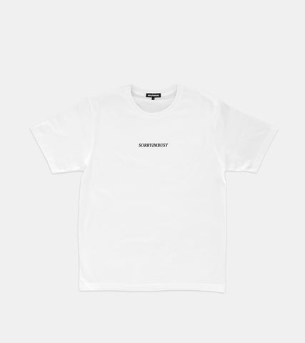 SORRYIMBUSY Staple T-Shirt - White