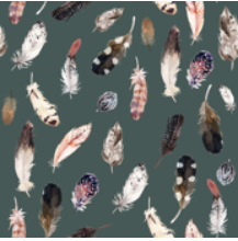Load image into Gallery viewer, Feathers - Swaddle Blanket