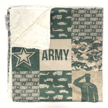 Load image into Gallery viewer, Army - Minky Blanket