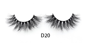 3D Mink eye lashes dramatic volume eyelashes -  D20