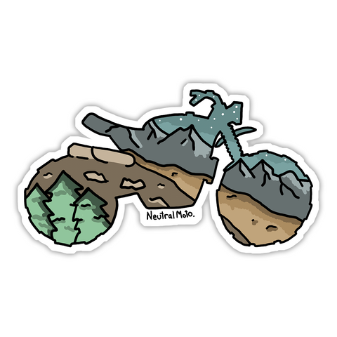Mountain Scramble Sticker
