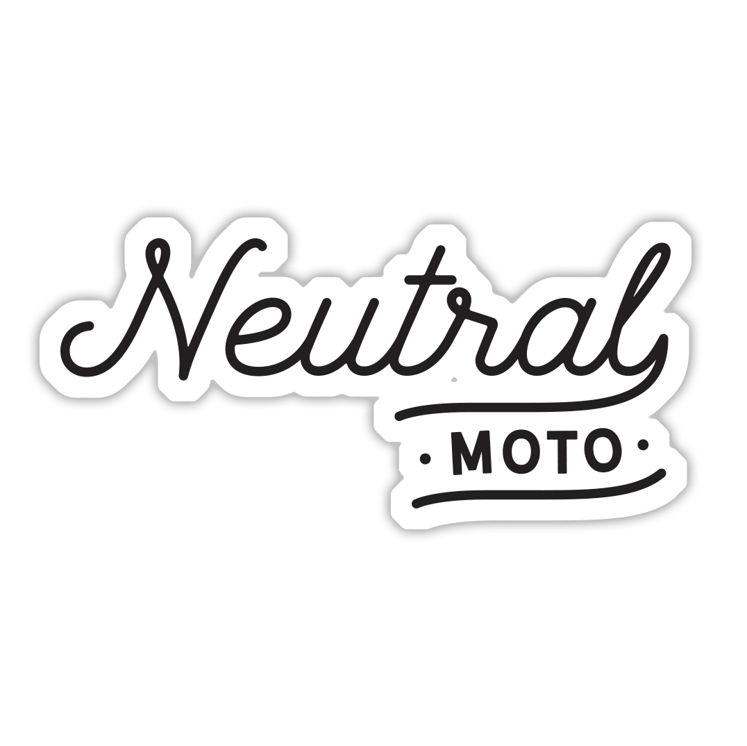 Neutral Moto Script Sticker