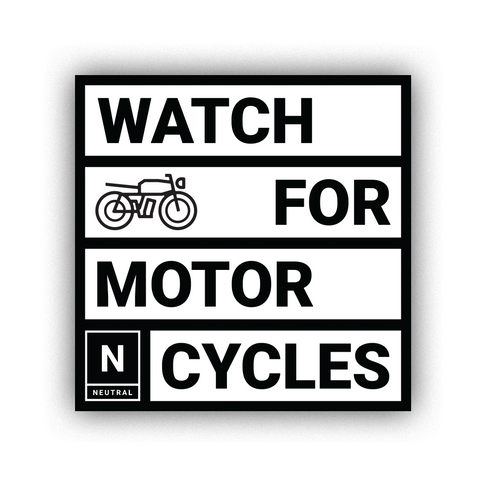 Watch for Motorcycles Sticker