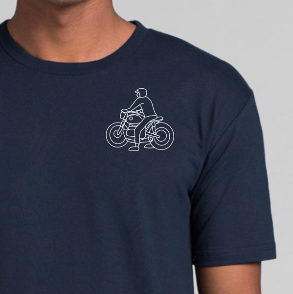 Unisex Short Sleeve Stay Friendly T-shirt - Navy