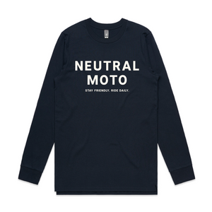 Long Sleeve Neutral Moto T-shirt - Navy