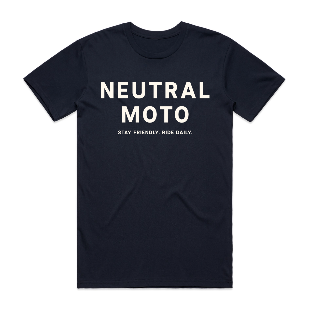 Unisex Short Sleeve Neutral Moto T-shirt - Navy