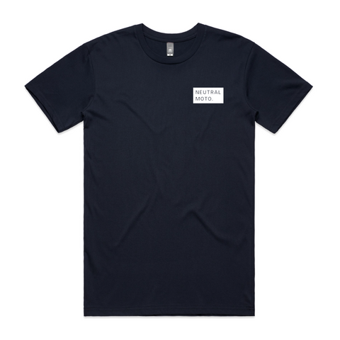 Unisex Short Sleeve Neutral Utilitarian T-shirt - Navy