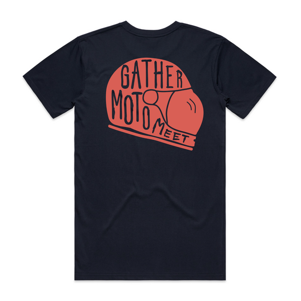 Unisex Short Sleeve Gather Moto Meet - Navy
