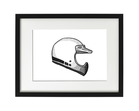Custom Helmet Illustration - Framed Print