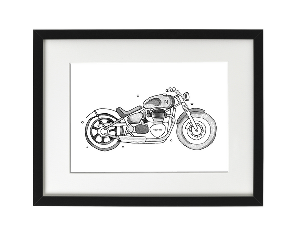Custom Motorcycle Illustration - Digital File Only (high resolution)