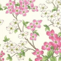 Dogwood Trail II - Floral Dogwood Foliage Porcelain