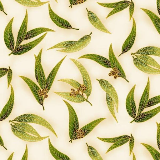 Chandler's Cottage - Gum Leaves Green/Ivory