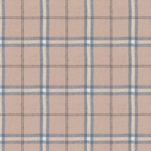 Stof - Shabby Chic - Blue Gingham Stripe