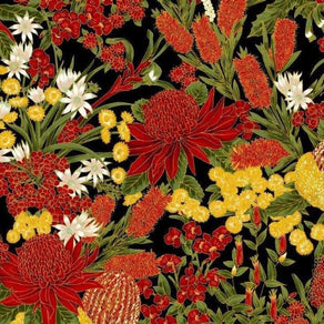 Chandler's Cottage - Floral Red/Black