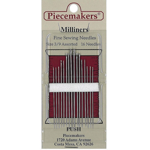 Piecemakers Needles - Milliners - 3-9