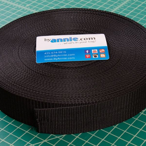 "byAnnie Bag Strapping - 1"" Wide - Black"