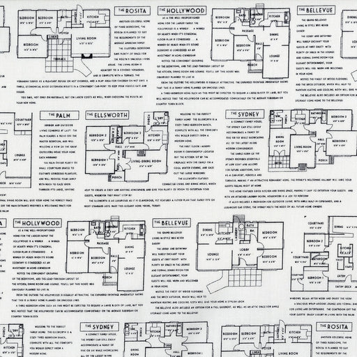 Fine Print - Floor Plans Black on White
