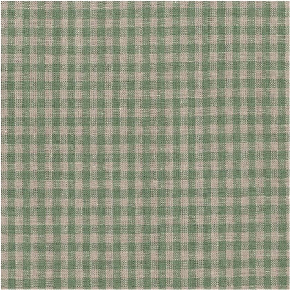 Stof - Shabby Chic - Green Gingham