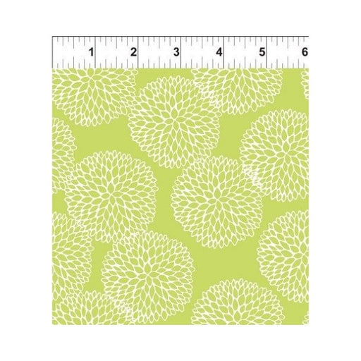 Doodle Blossoms - Chrysanthemums - Lime