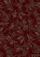 Japanese Backing - Burgundy Large Print 280cm wide