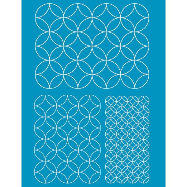 Quilt Marking Stencil Sheet - Wineglasses - A3