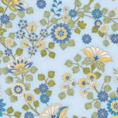 Arabella - Ornamental Floral - Blue