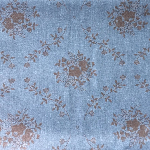 Traditional Floral - Teal - 3 metre Pre-Cut