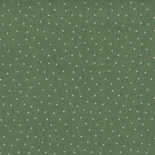 Stof - Shabby Chic - Green with White Dots