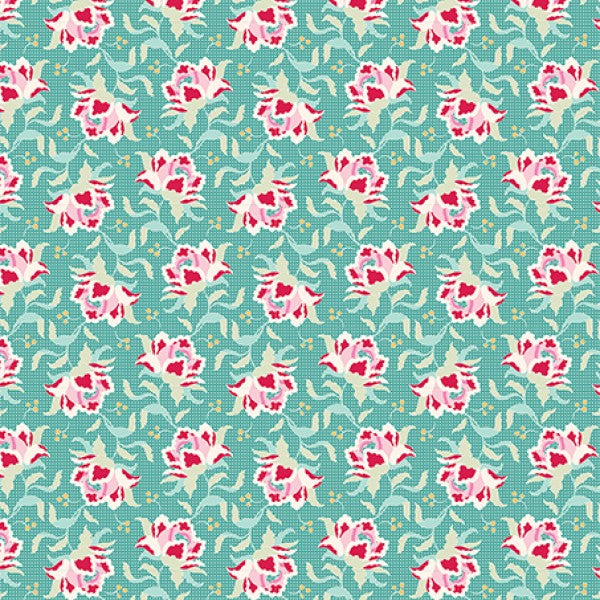 Circus - Clown Flower in Teal