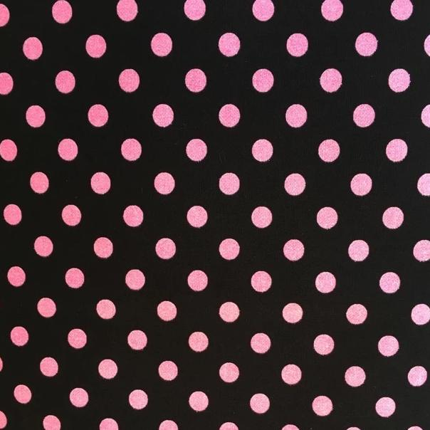 Sevenberry Glitter Dots - Black + Pink