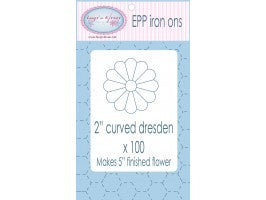 "Curved Dresden Applique Shapes - 2"" -100pk"