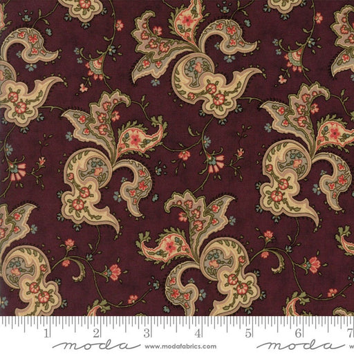 Courtyard Bordeau - Floral Paisley Flourish Purple
