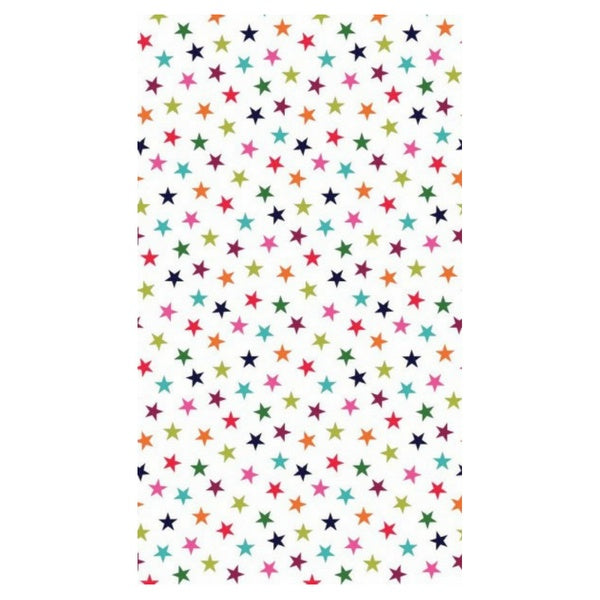 Multi Colour Star Print - White