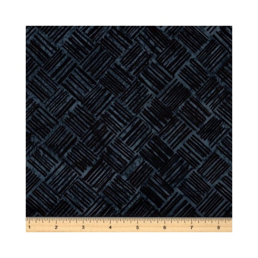 Bali Batiks - Crosshatch - Midnight