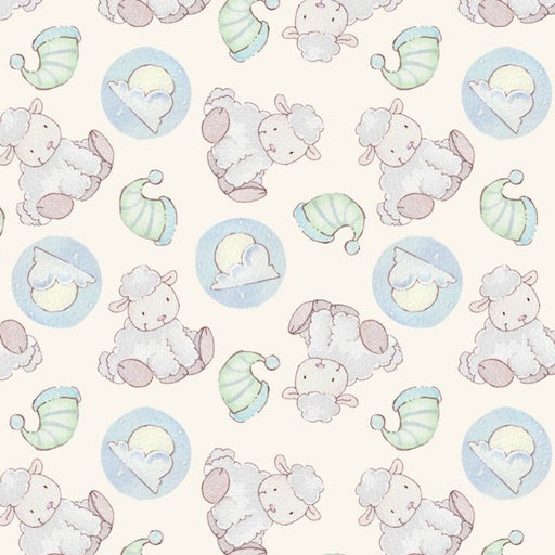 Lullaby Sheep Flannels - Blue Lambs