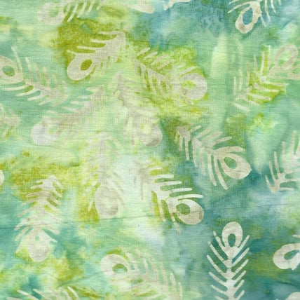 Anthology Batik - Green Feather Print