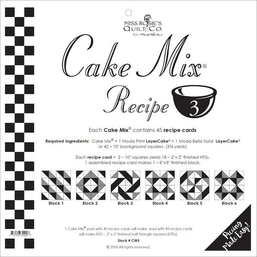 Cake Mix Recipe THREE