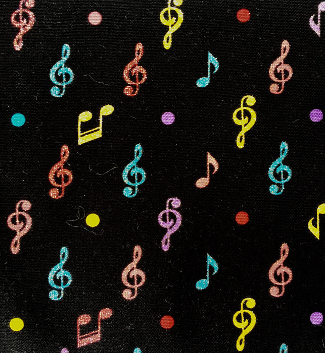 Musical Notes - Black