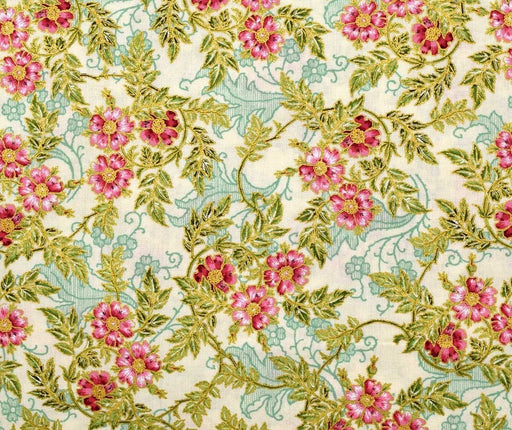 Jenny Jane - Small Floral - Parchment/Gold