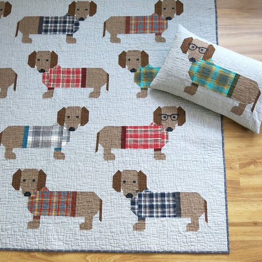 Dogs in Sweaters Quilt + Pillow Pattern