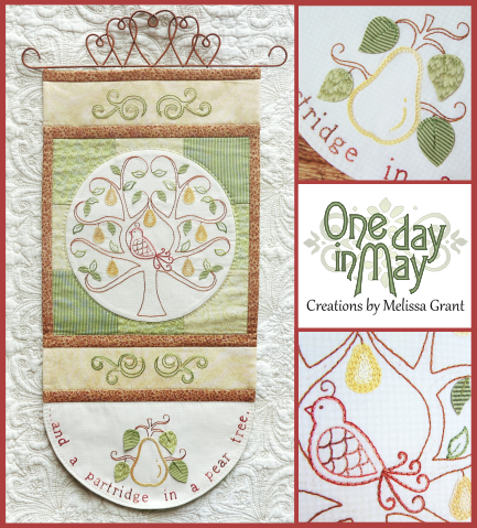 In a Pear Tree Wallhanging Pattern