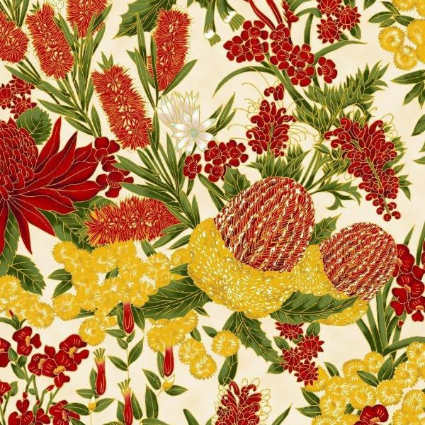 Chandler's Cottage - Floral Red/Ivory