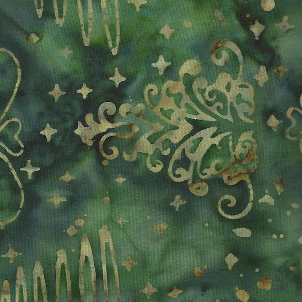 Anthology Batik - Green Tree Print